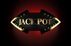 illustration 3d du GROS LOT FISHEYE des textes d'or de casino illustration de vecteur