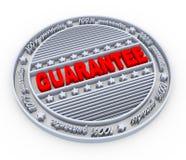 timbre de la garantie 3d Photo libre de droits