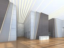 Illustration 3d einer Bürolobby Stockfoto