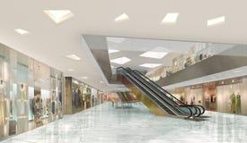 Illustration 3d eines Einkaufszentrums Stockfoto