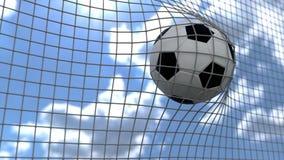 Illustration 3d eines Fußballziels vektor abbildung