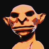 Illustration 3D eines gruseligen Geschöpfs stock abbildung