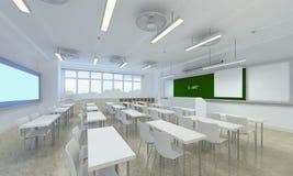 Illustration 3d eines hellen Klassenzimmers Stockfoto
