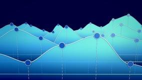 Illustration 3D eines Kurvendiagramms oder der Linie Diagramm Stockbilder