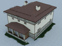 Illustration 3d eines Landhauses Stockbild