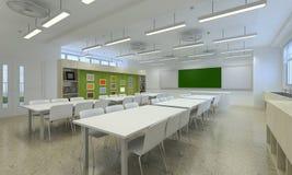 Illustration 3d eines modernen Klassenzimmers Lizenzfreies Stockbild