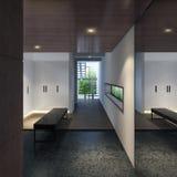 Illustration 3D eines modernen Umkleideraums Stockbilder