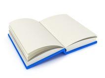 Illustration 3D eines offenen Buches Stockbilder