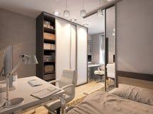 Illustration 3D eines Schlafzimmers für Geschwister Stockfotos