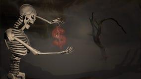 Illustration 3d eines skeleton Gestikulierens Lizenzfreie Stockfotos