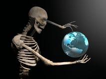 Illustration 3d eines skeleton Gestikulierens Lizenzfreies Stockfoto