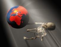 Illustration 3d eines skeleton Gestikulierens Stockbilder