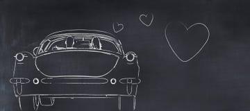 Illustration 3D eines whiteboard mit einer Zeichnung Lizenzfreies Stockbild