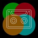 Illustration d'enregistreur ? cassettes de vecteur illustration libre de droits