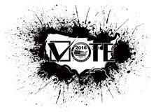 Illustration d'ensemble d'éclaboussure d'encre de carte des Etats-Unis du vote 2016 Images libres de droits