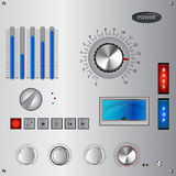 Ensemble de contrôles analogue d'interface et d'élément illustration stock