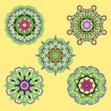 Illustration d'ensemble de l'ornement cinq abstrait illustration stock