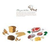 Illustration d'ensemble de nourriture Photo stock