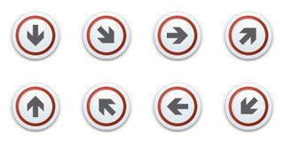 Illustration d'ensemble de signe de label de bouton de dirrection de flèche photographie stock libre de droits