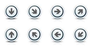 Illustration d'ensemble de signe de label de bouton de dirrection de flèche images stock