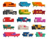 Illustration d'ensemble de sofa Photo libre de droits