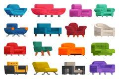 Illustration d'ensemble de sofa Images stock