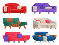 Illustration d'ensemble de sofa Images stock