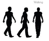 Illustration d'ENV 10 d'un homme dans la pose de marche sur le fond blanc Photos stock