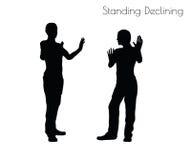 Illustration d'ENV 10 d'un homme dans la pose en baisse debout sur le fond blanc Images libres de droits