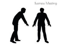 Illustration d'ENV 10 de l'homme dans la pose de réunion d'affaires sur le fond blanc Images libres de droits
