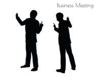 Illustration d'ENV 10 de l'homme dans la pose de réunion d'affaires sur le fond blanc Photographie stock libre de droits