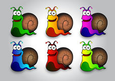 Illustration d'escargot Photos libres de droits