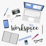 Illustration d'espace de travail Images libres de droits