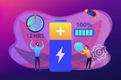 Illustration d'exécution de vecteur de concept de batterie illustration stock