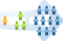 Illustration d'expansion d'accroissement de recrutement Photos libres de droits