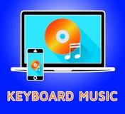 Illustration 3d för piano för tangentbordmusikhjälpmedel ljudsignal stock illustrationer
