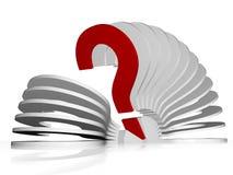 Illustration in 3d - Fan von Fragezeichen Lizenzfreie Stockfotos
