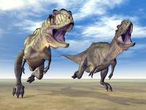 Dinosaure Yangchuanosaurus Photo stock