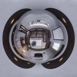 illustration 3d 360 grad sfärisk sömlös panorama av i Royaltyfria Bilder