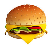 Illustration d'hamburger Photo stock