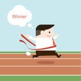 Illustration d'homme d'affaires à la ligne d'arrivée Photo libre de droits