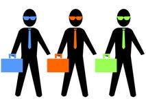 Illustration d'hommes d'affaires Photos stock