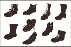 Illustration d'icône de chaussures réglée pour le web design Photos stock