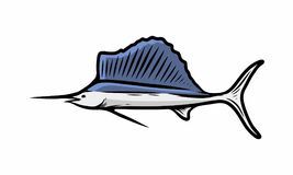Illustration d'icône de logo de conception de mer de poissons Photos stock