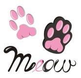 Illustration d'icône de vecteur de Cat Paw Dog Paw illustration stock