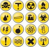 Illustration d'icône de risque toxique de danger illustration de vecteur