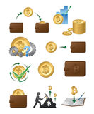 Illustration d'icônes de Bitcoin Images stock