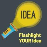 Illustration d'idée de lampe-torche Image stock