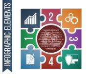 Illustration d'Infographic avec les icônes intégrées d'affaires pour le développement, l'investissement, les solutions, l'affaire Photographie stock libre de droits