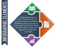 Illustration d'Infographic Le vecteur de concept d'affaires a inclus les icônes intégrées de la compétence, du développement et d Photos stock